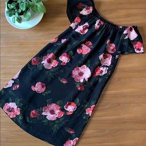 Aritzia Wilfred Rose Off Shoulder Neuchatel Dress